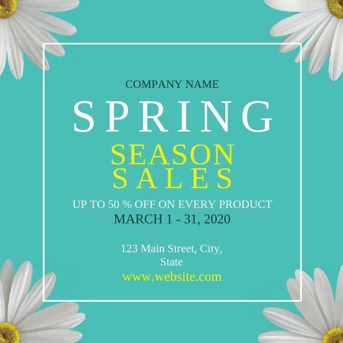 Spring season sales instagram Instagram-opslag template