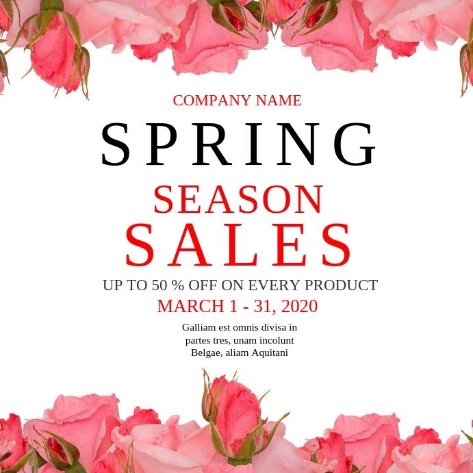Spring season sales instagram post advertisem template