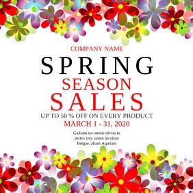 Spring season sales instagram post advertisem