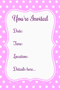 Spring Summer Baby Girl Brunch Lavender Invitation Party