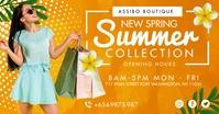 Spring Summer Clothes Shop Facebook Post Temp Isithombe Esabiwe ku-Facebook template
