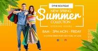 Spring Summer Clothes Shop Facebook Post Temp template