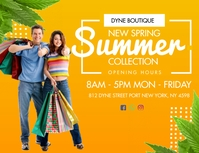 Spring Summer Clothes Shop Flyer Template