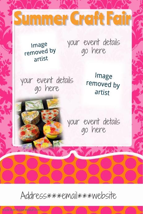 spring summer craft fair invitation announcement flyer