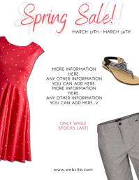 Spring Summer Sale Flyer Template