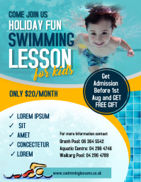 Spring Swim Lessons Flyer template