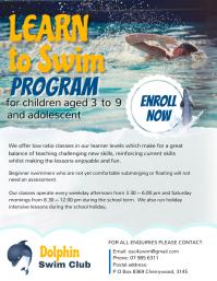 Spring Swim Lessons Flyer