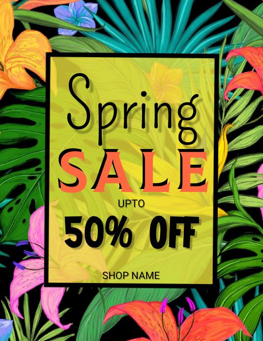 Spring Template Flyer (US Letter)
