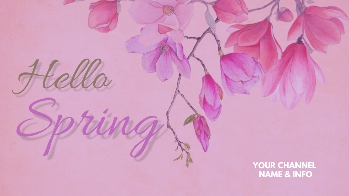 Spring Template YouTube Channel Cover Photo