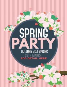 Spring templates, event templates,party templates