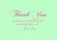 Spring Theme Thank You Video Card Postal template