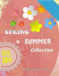 Spring Time Flyer (US-Letter) template