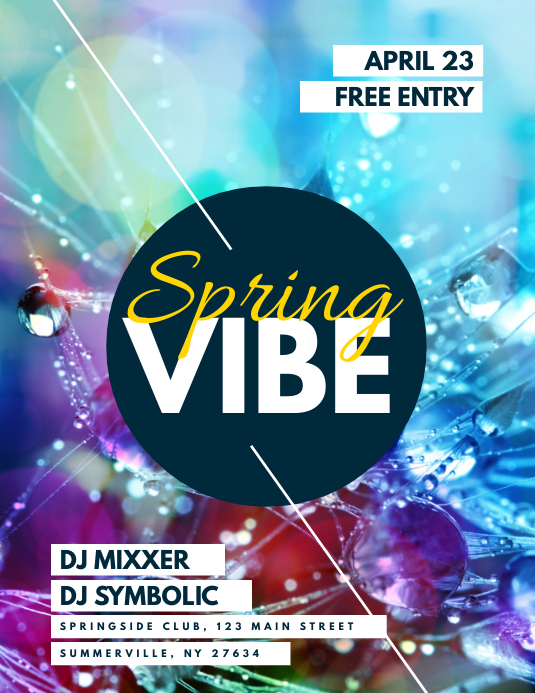 Spring Vibe Flyer Pamflet (VSA Brief) template