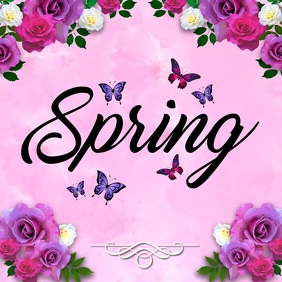 Spring Video, Spring Festival Video, Spring Event Video Quadrato (1:1) template