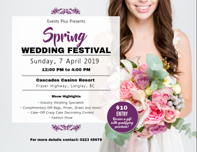 Spring Wedding Festival Fair Landscape Flyer