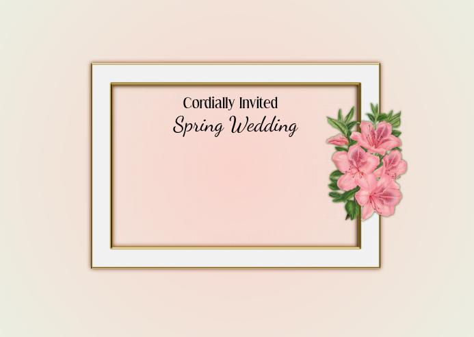 Spring Wedding Invitation Postal template
