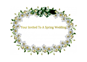 Spring Wedding Post Card
