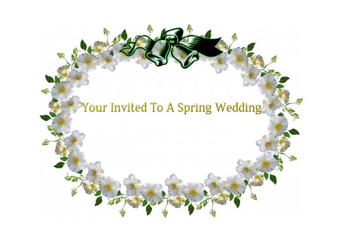 Spring Wedding Post Card