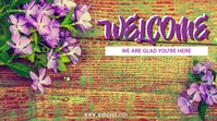 Spring Welcome to Church Tampilan Digital (16:9) template