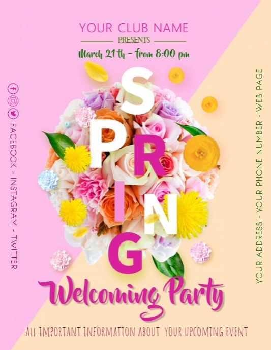 Spring Welcoming Party Poster Flyer