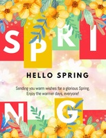 spring wishes,spring Ulotka (US Letter) template