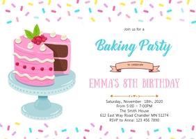 Sprinkle cake party invitation