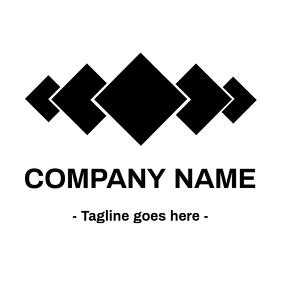 Square black and white logo