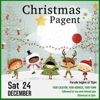 Square Children's Christmas Concert Flyer p Vierkant (1:1) template