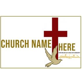 Square church cross logo