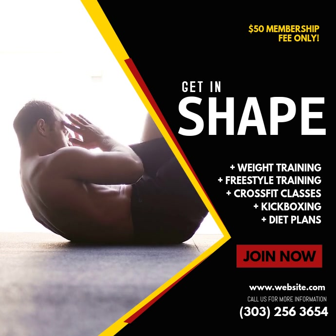 Square Fitness Video Template