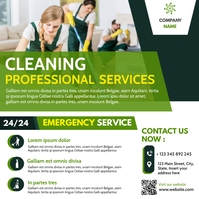 Square instagram post advertising cleaning se template