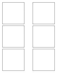 SQUARE TEMPLATE Folheto (US Letter)