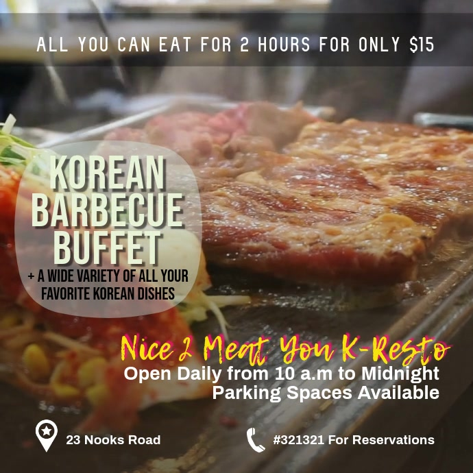 barbecue buffet template