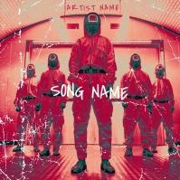 squid game mixtape album cover template