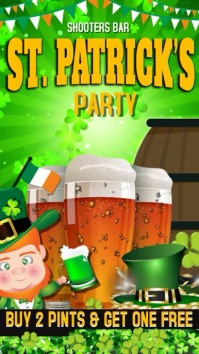 Sr Patrick's Day Party Poster Template'