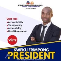 SRC Election Campaign Poster Template Persegi (1:1)