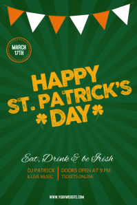 St. Patrick Day poster template