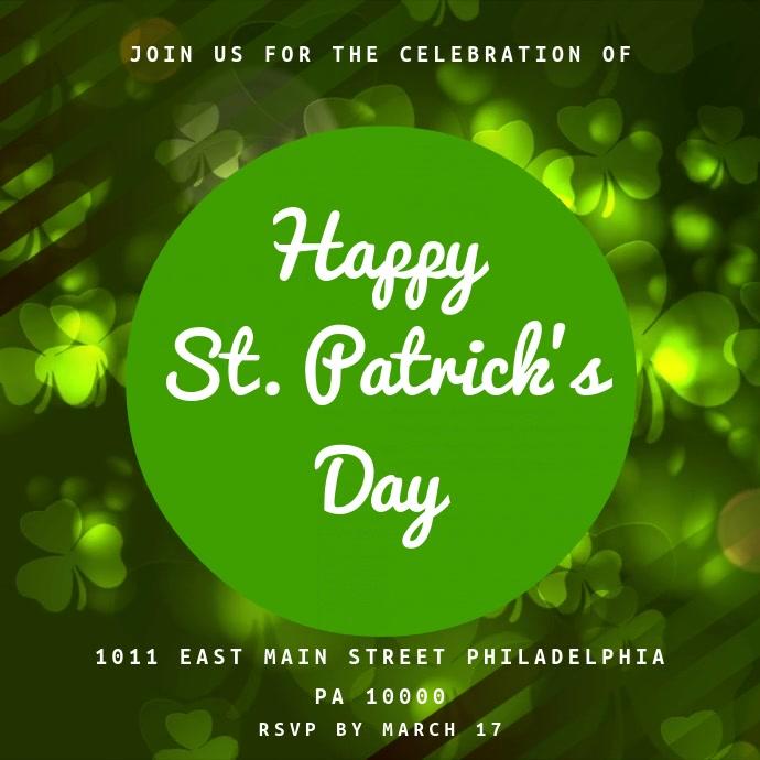 St. Patrick's Celebration Instagram Video Template