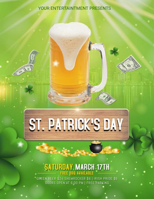 Plantilla de St. Folleto Del Evento Del Bar Patrick\'s Day | PosterMyWall