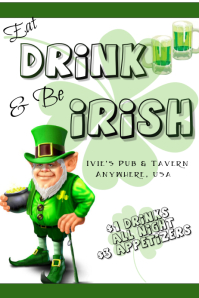 St. Patrick's Day Event Flyer