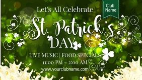 St. patrick's Day Event Promo Video Template วิดีโอหน้าปก Facebook (16:9)