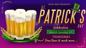 St. patrick's day Facebook Cover video template