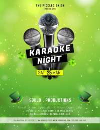 St. Patrick's Day Karaoke Event Flyer