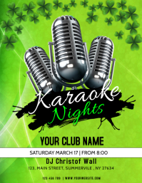 St. Patrick's Day Karaoke Flyer
