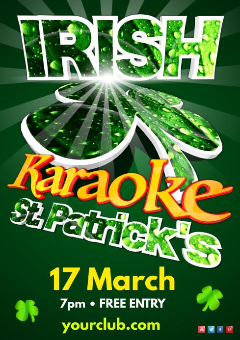 St. Patrick's Karaoke Show Poster