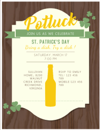 St. Patrick's Potluck Flyer Template