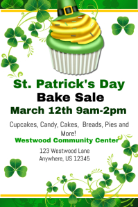 St. Patricks Cupcake Sale