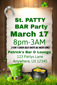 St. Patricks Day Bar Party Flyer