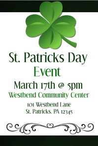 St. Patricks Day Event Flyer
