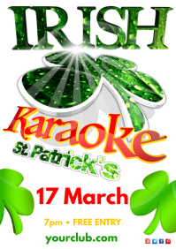 St. Patricks Day Karaoke Show Poster